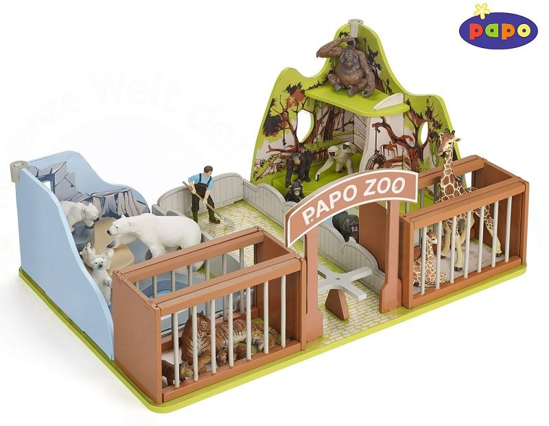 The Zoo from the Papo Wildlife collection - Discounts on all Papo Toys at Wonderland Models.