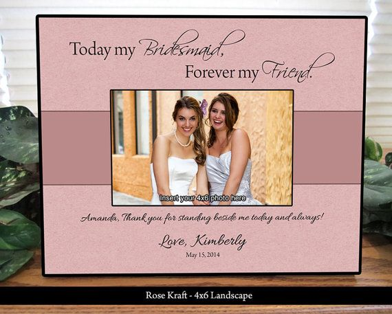 Bridesmaid Picture Frame, Maid of Honor Frame, Personalized Gifts ...