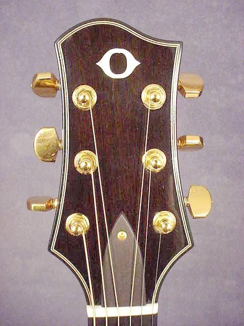 James Olson Guitars Headstock With O Logo Luthier Guitar Acoustic Guitar Guitar Inlay