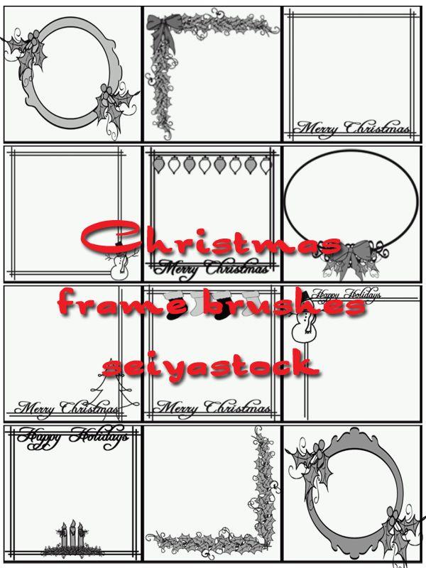 Christmas Frame Brushes by seiyastock on deviantART   GIMP ...