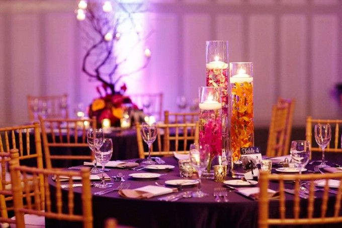 Orange And Purple Wedding Centerpieces Choice Image