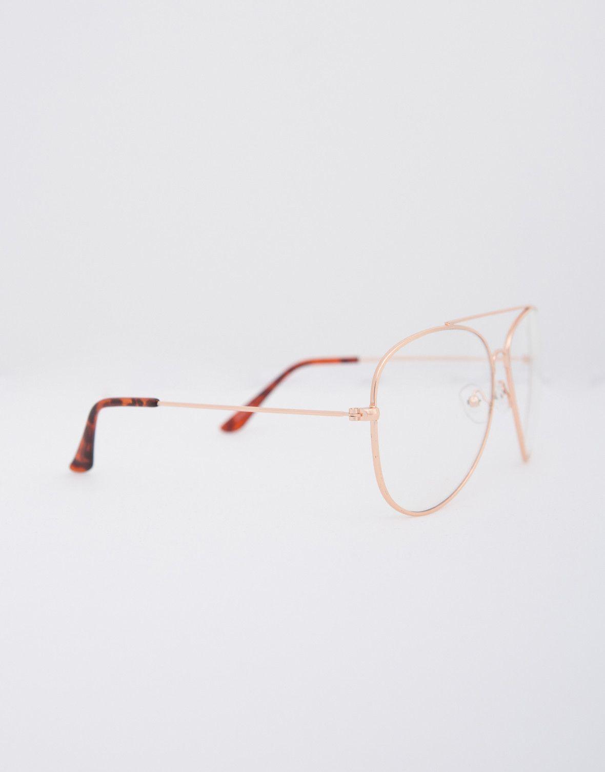 ed3421a1e06 Aviator Clear Glasses