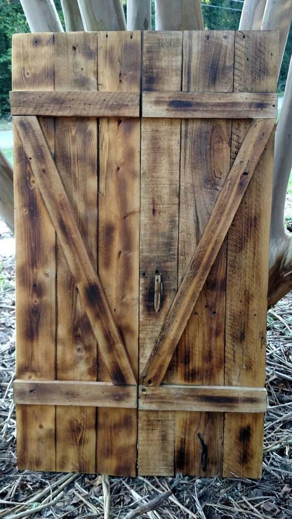 Check out this item in my Etsy shop https://www.etsy.com/listing/553613219/wood-shutters-rustic-wood-shutters
