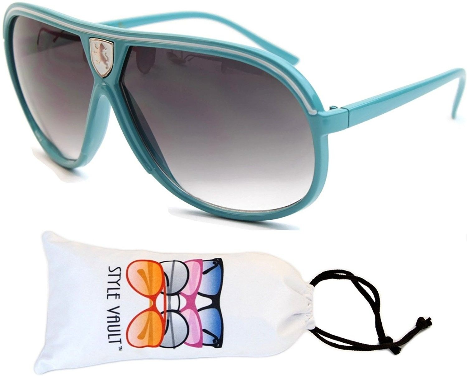 87cf29db5f A07-vp Aviator Retro Millionaire Sunglasses - P2725c Blue White -  CZ12FYQR2KH - Women s Sunglasses