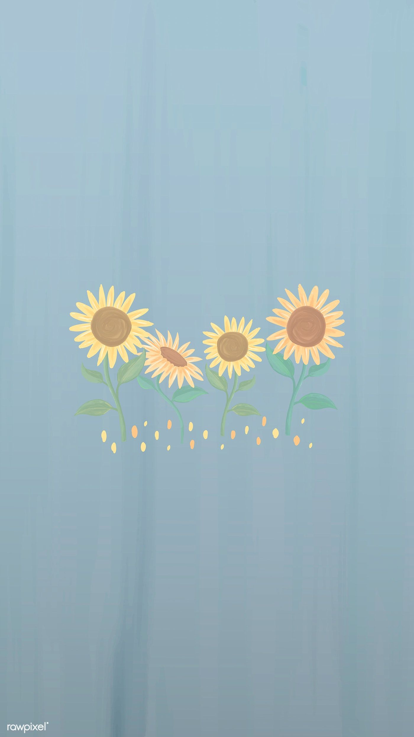 Hand Drawn Sunflower Mobile Phone Wallpaper Vector Premium Image By Rawpixel Com Man In 2020 Sunflower Wallpaper Sunflower Iphone Wallpaper Pretty Wallpaper Iphone