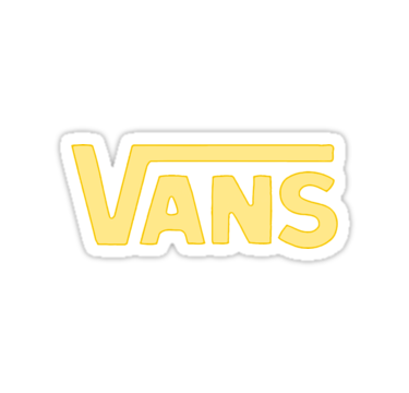 soft yellow vans sticker