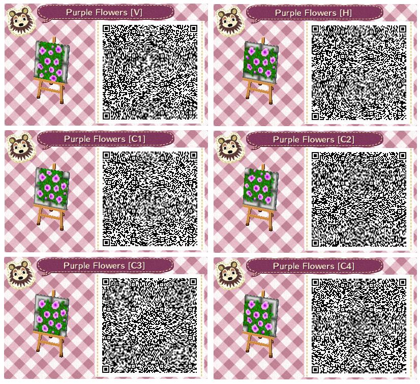 Purple Flower Beds By Quirkberry Animal Crossing New Leaf