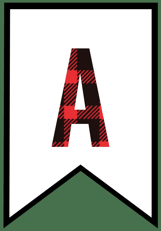buffalo plaid banner letters a png 2 083 2 986 pixels letter