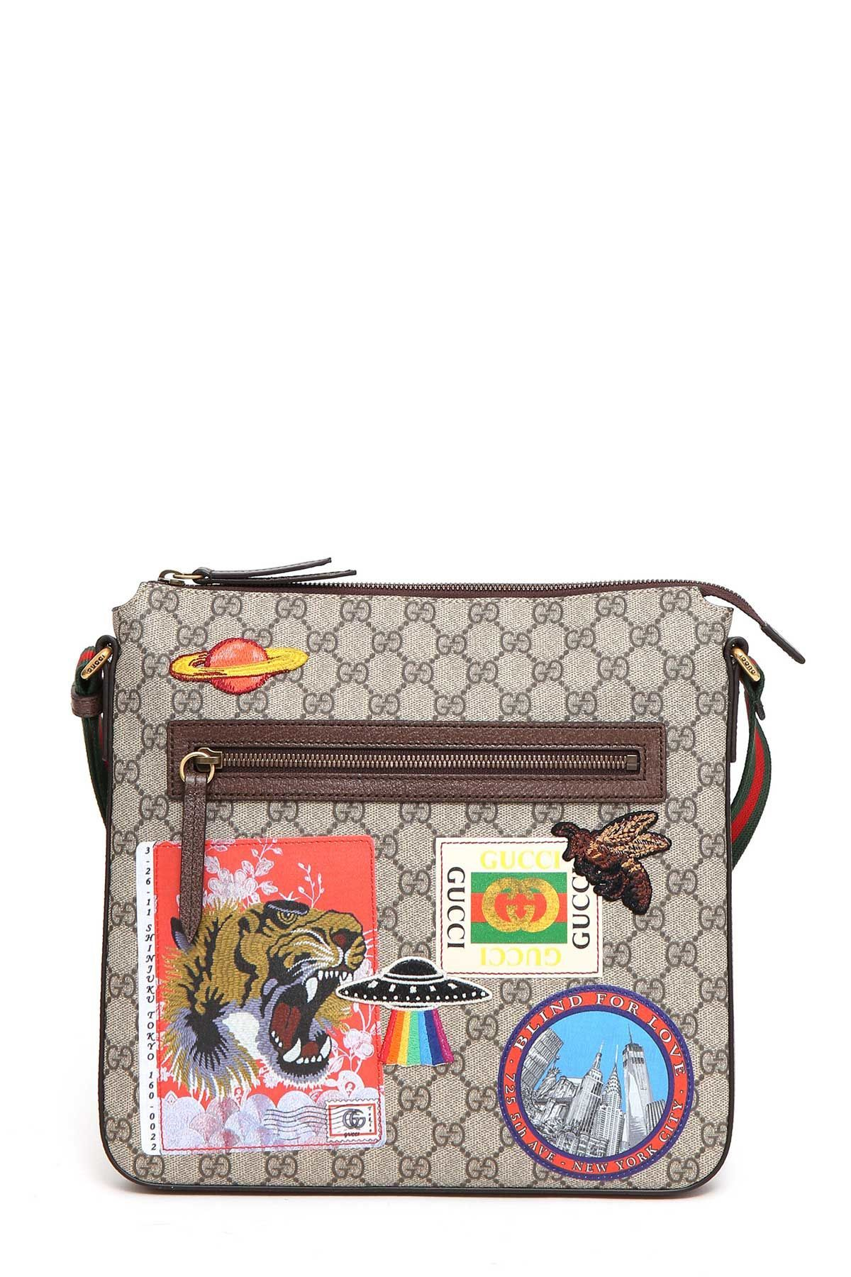 23bc568faba GUCCI GG SUPREME FABRIC COURRIER BAG.  gucci  bags  shoulder bags  leather