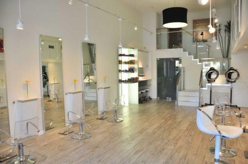 White Color Schemes Hair Salon Interior Design Ideas With Modern