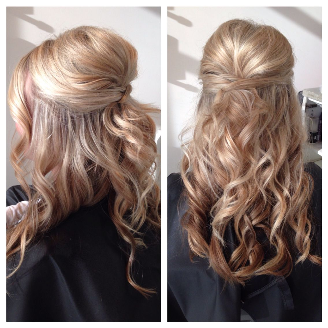 Beautiful wedding hair and easy too it held all night hair style