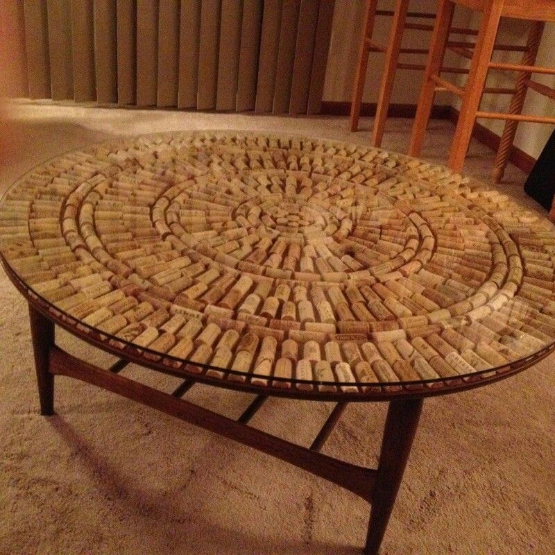 Wine Cork Table Design: Wine Cork Coffee Table. Totally Making This For My