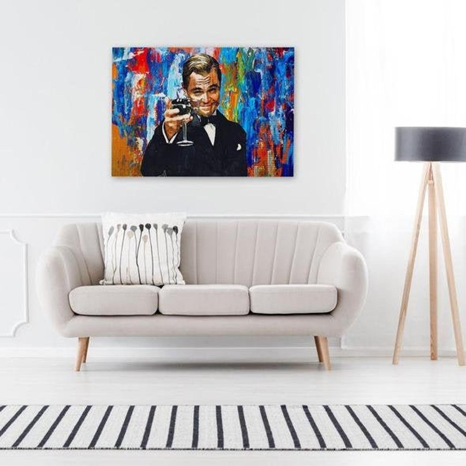 Gatsby Celebrate Success Wolf Of Wall Street Canvas Wolf Of Wall Street Poster Leonardo Dicaprio Wall Art Perfect Office Decor Shop Wall Art Oversized Canvas Art Inspirational Wall Art
