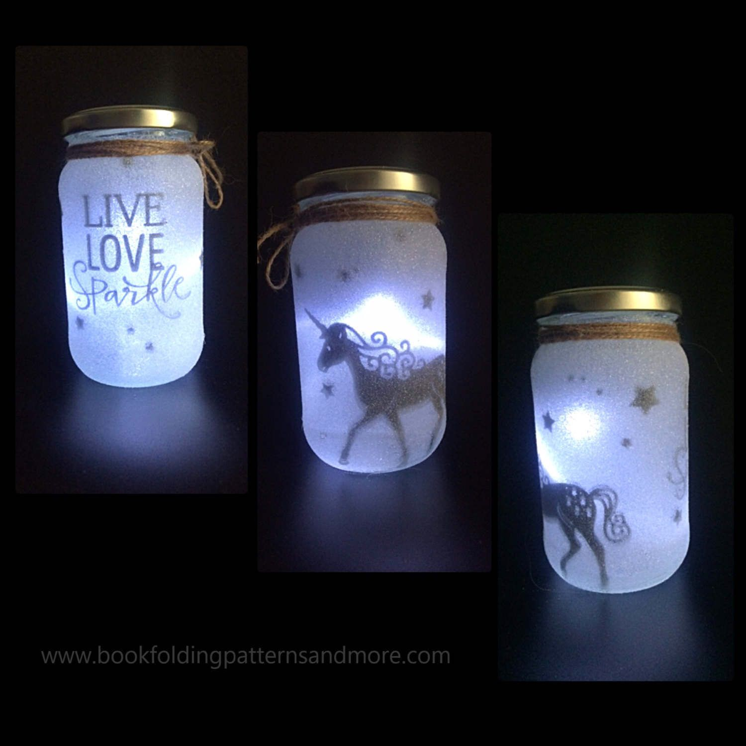 Unicorn Night Light Mood Lighting Unicorn Fairy Jar Etsy Fairy Jars Jar Lights Jar Diy