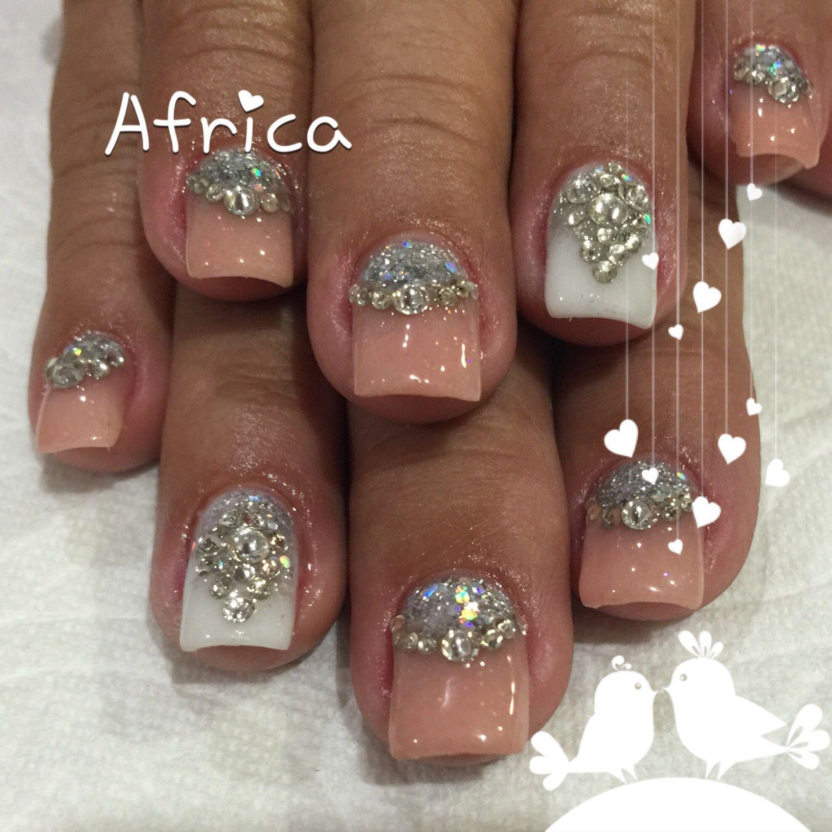 Uñas acrílicas con piedras | Uñas Africa | Pinterest | Uñas acrílico ...