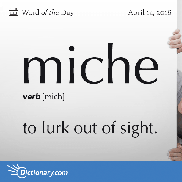 Do You Miche From Time To Time Wotd Wordoftheday Dictionarycom