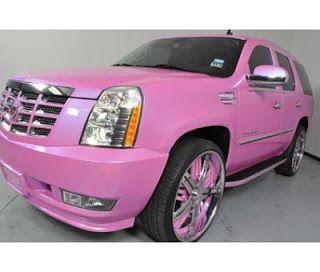 Pink Escalade S A Girls Dream Pink Car Girly Car Pink Wheels