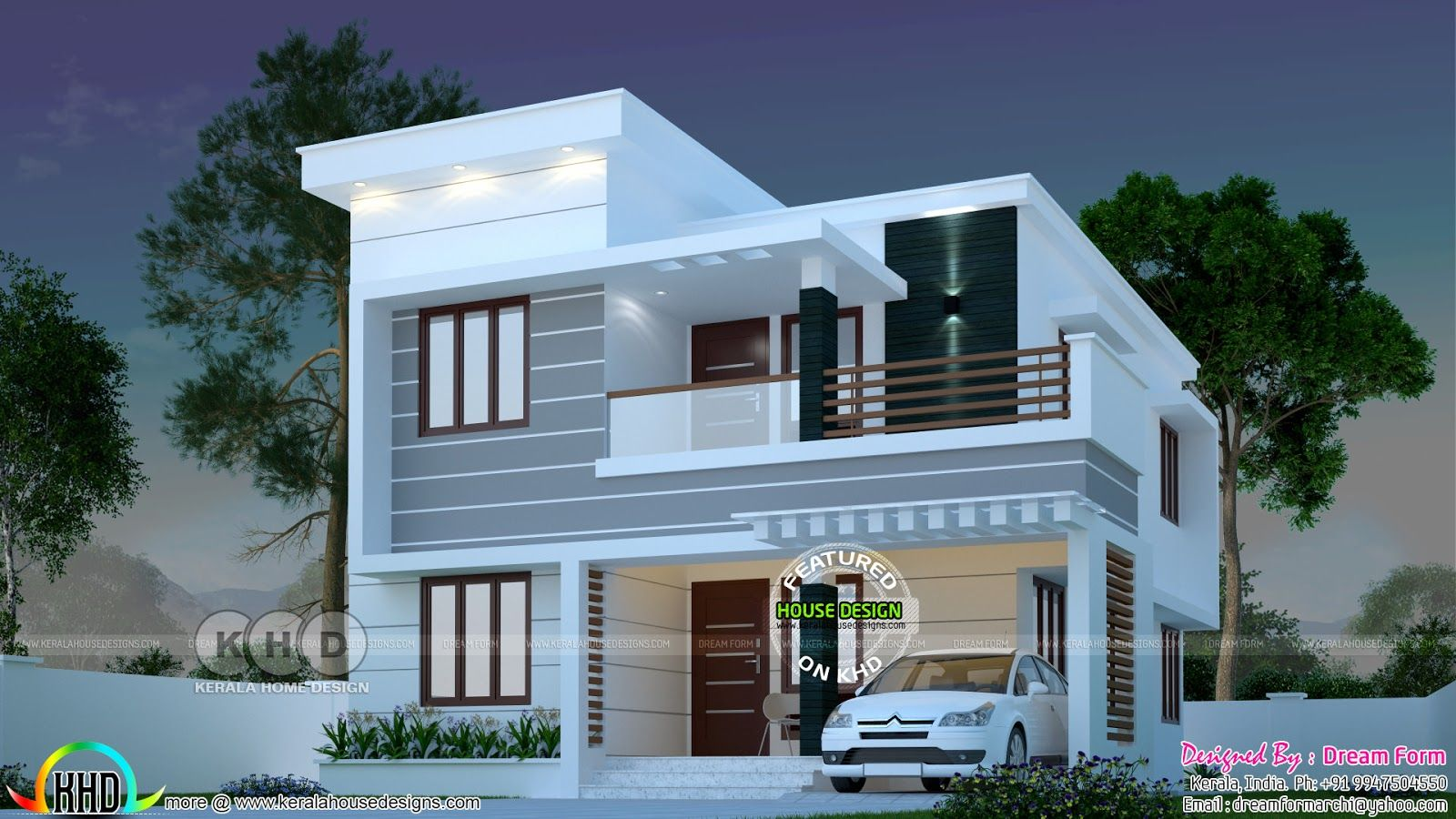 1145 sq ft 3 bedroom modern kerala house