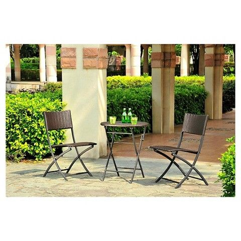 harrison 3 piece all weather wicker folding patio bistro set