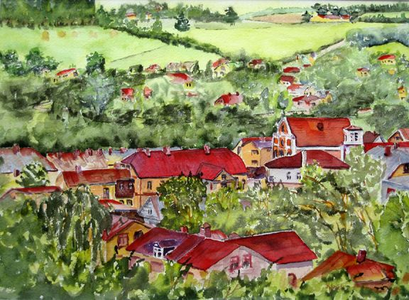 red roofs, sabile valley