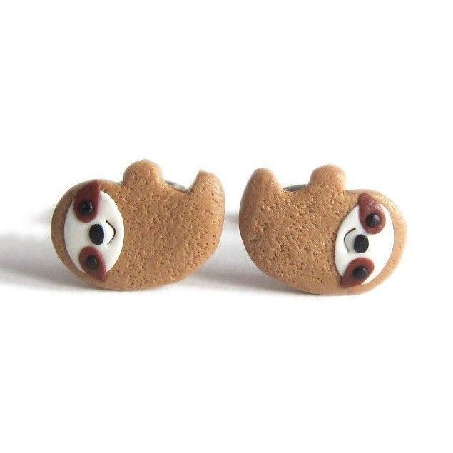 Polymer Clay Handmade Cute Animal Sloth Funny Gift Idea