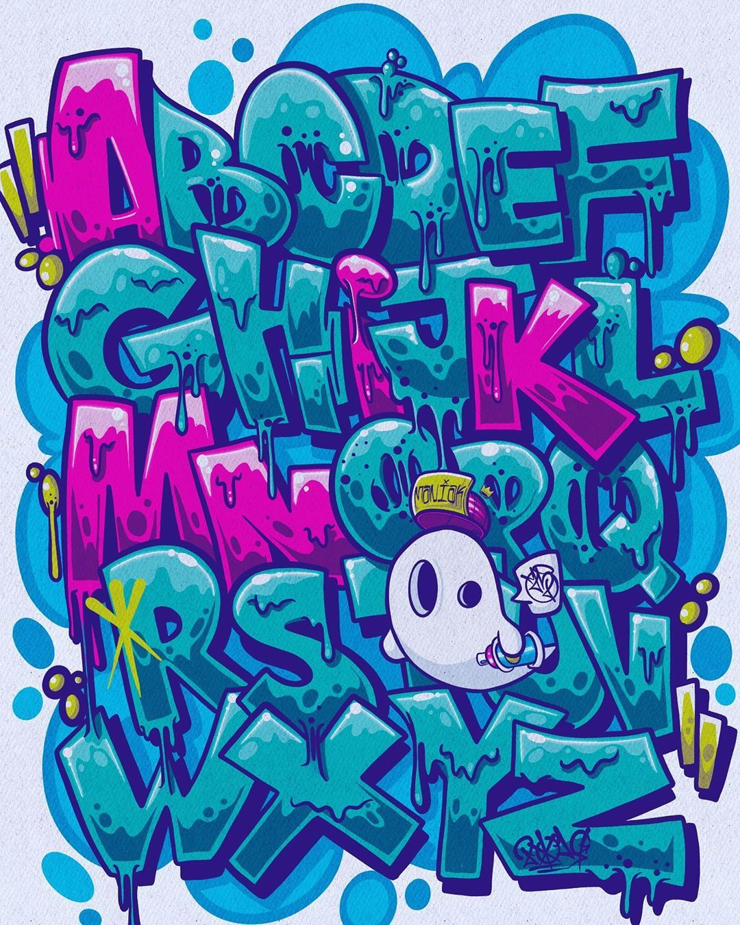 Alphabet Abc Lettering Ipadprocreate Ipadprograffiti