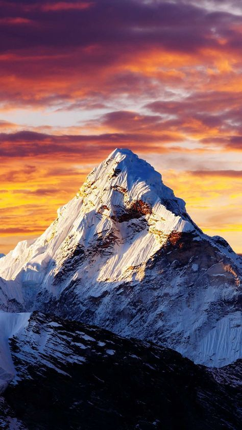 Alps Snow Mountain Sunset Clouds Iphone Wallpaper Peyzaj Duzenlemesi Fikirleri Doga Fotografciligi Manzara Fotografciligi
