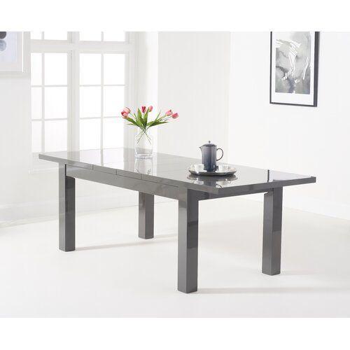Essgruppe Crovetti mit 6 Stühlen 17 Stories Farbe (Tisch): Dunkelgrau, Farbe (Stühle): Creme