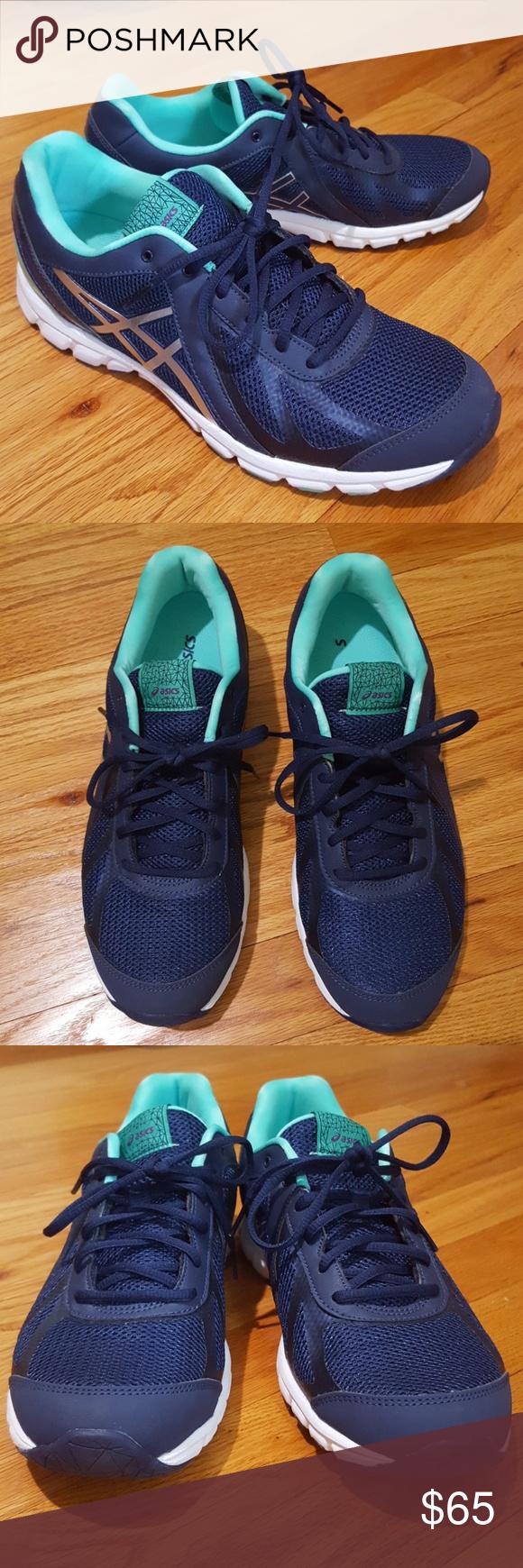 Asics Walking Shoe Gel Frequency 3 Navy & Mint 9.5 Shoes