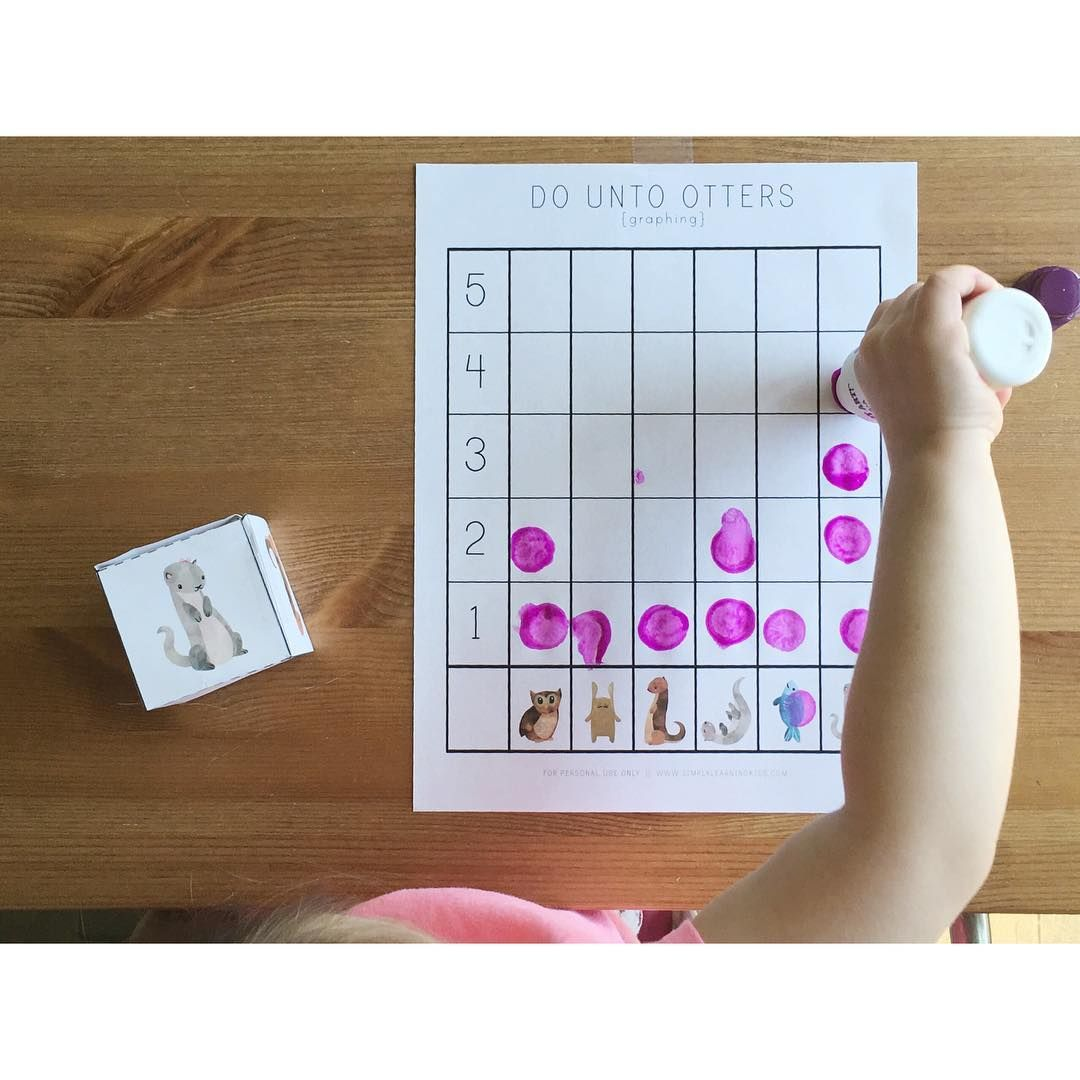 Do Unto Otters Preschool Graphing Game