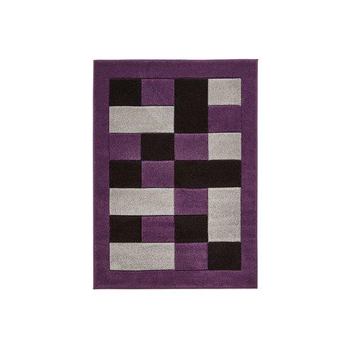 Zipcode Design Elijah Grey Purple Black Rug Black Rug Black