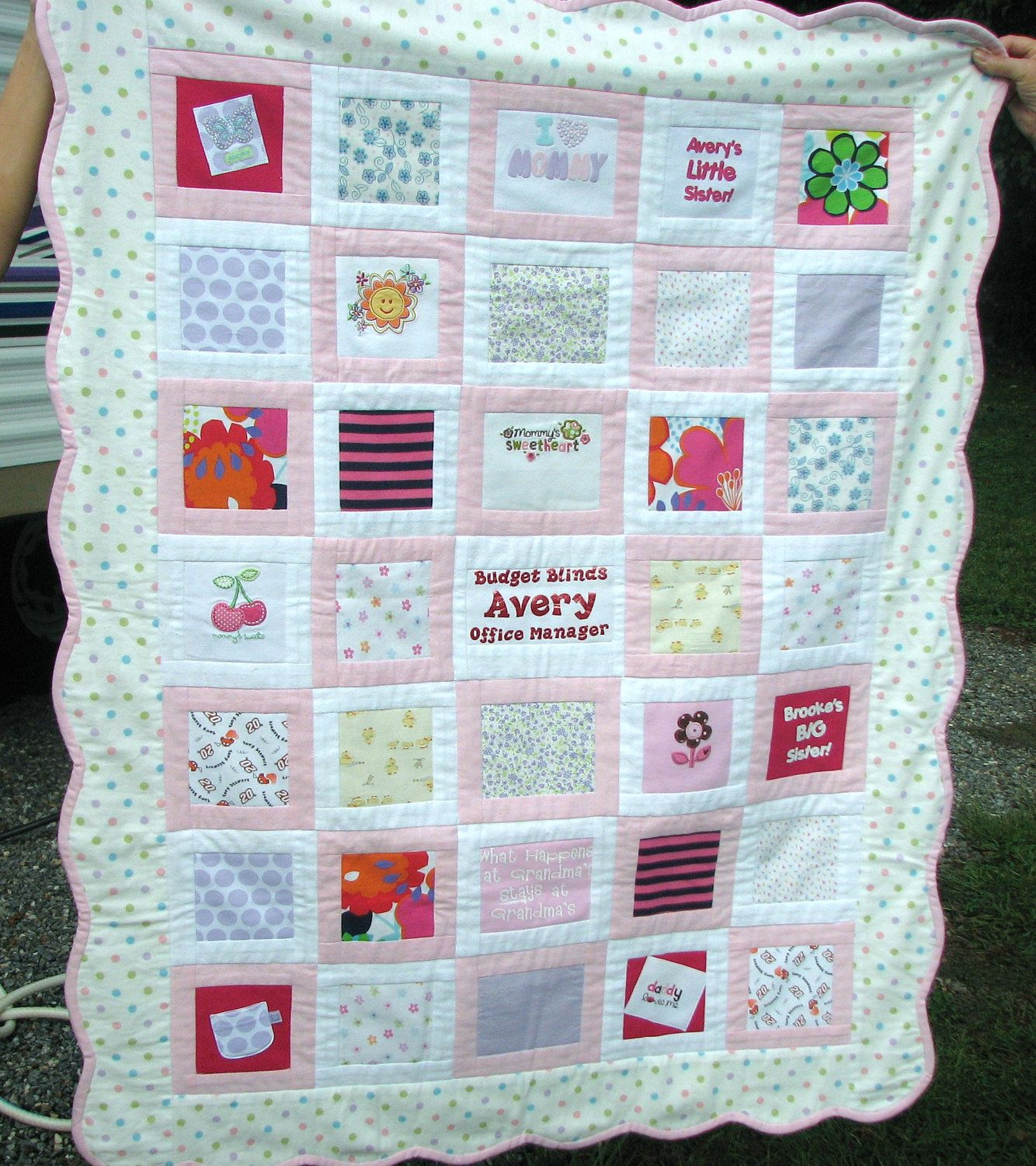 Baby Clothes Quilt | Our one day little man, or little princess ... : how to make memory quilts - Adamdwight.com