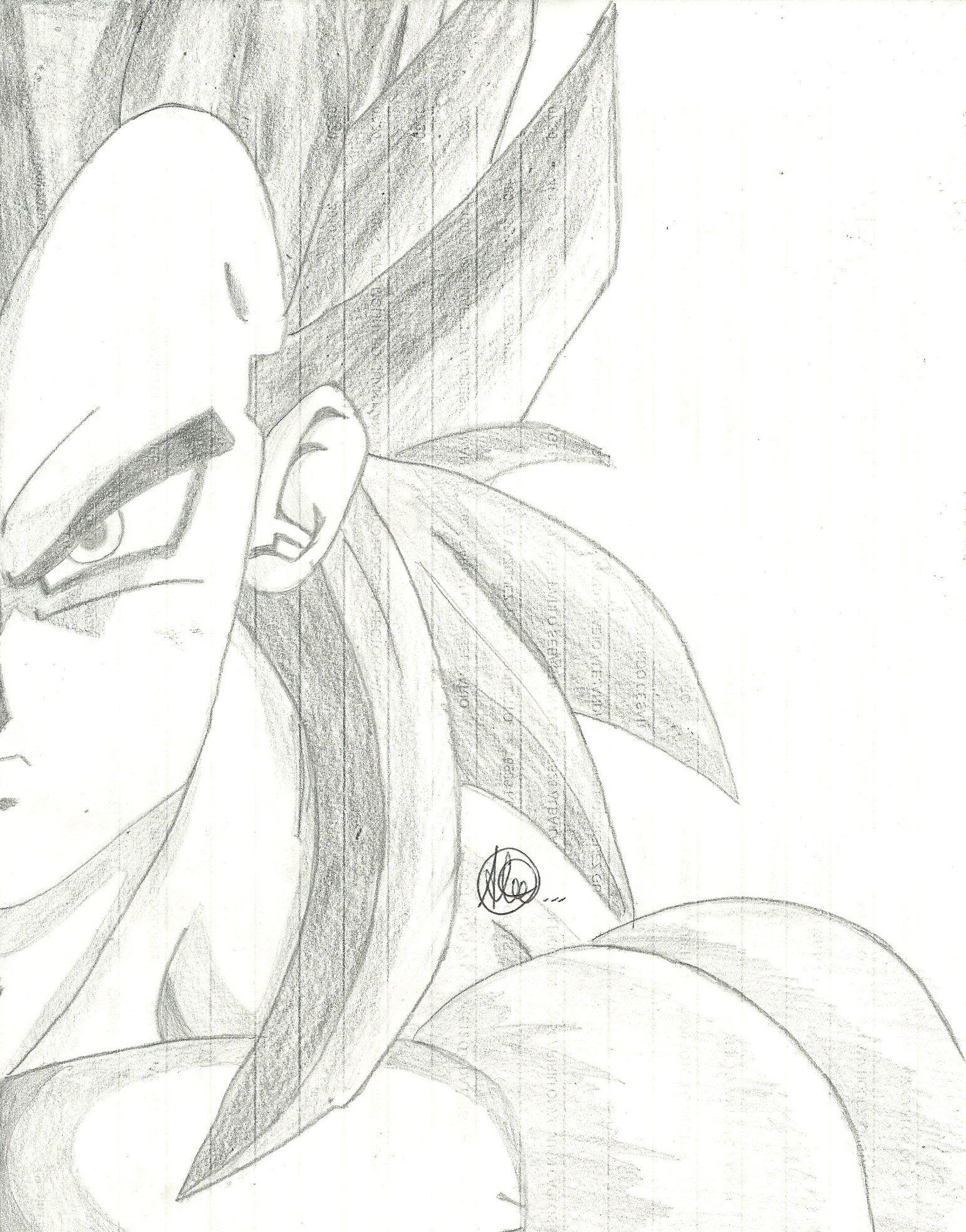 Dibujos A Lapiz De Dragon Ball Z Goku Drawing Dragon Ball Goku Sketches