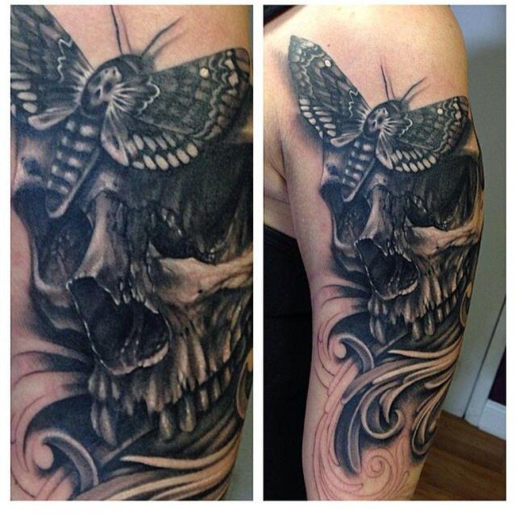 Tatouage tete de mort homme fashion designs - Tatouage la mort ...