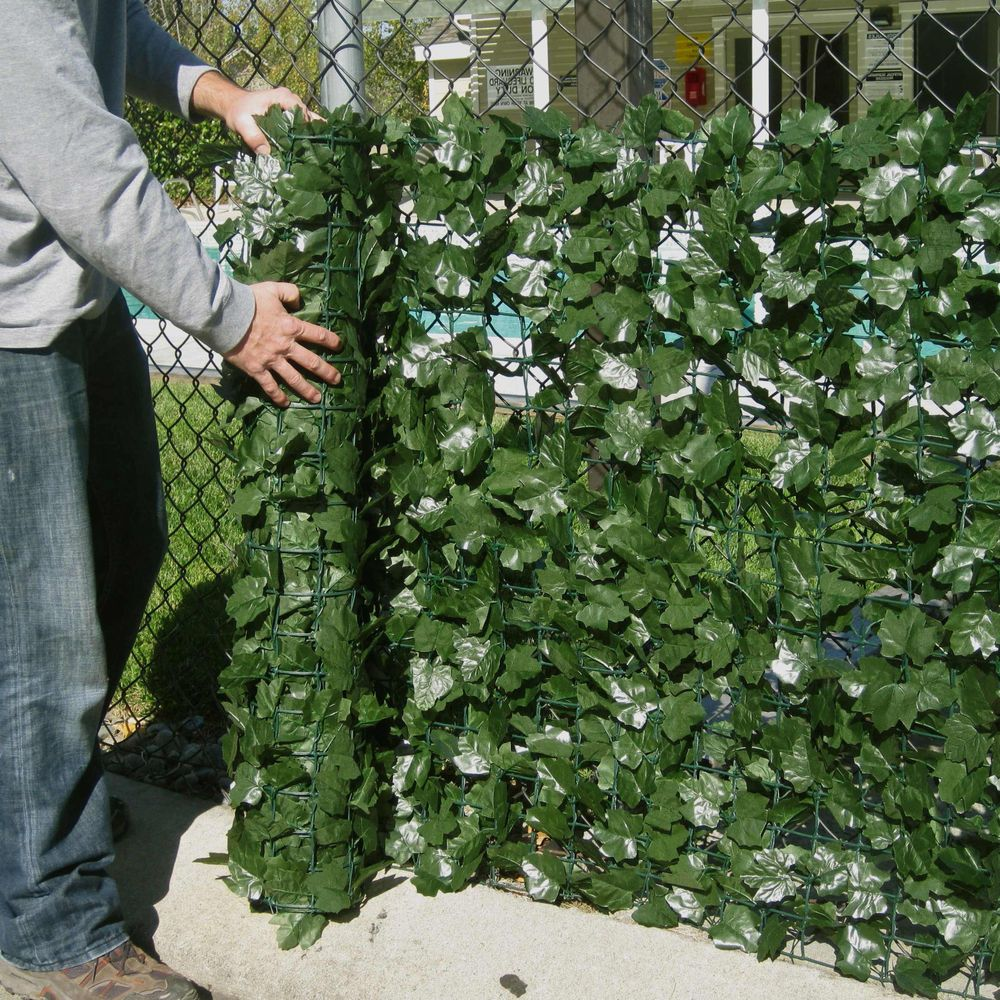Faux Ivy Hedge Fencing Artificial Outdoor Privacy Fence