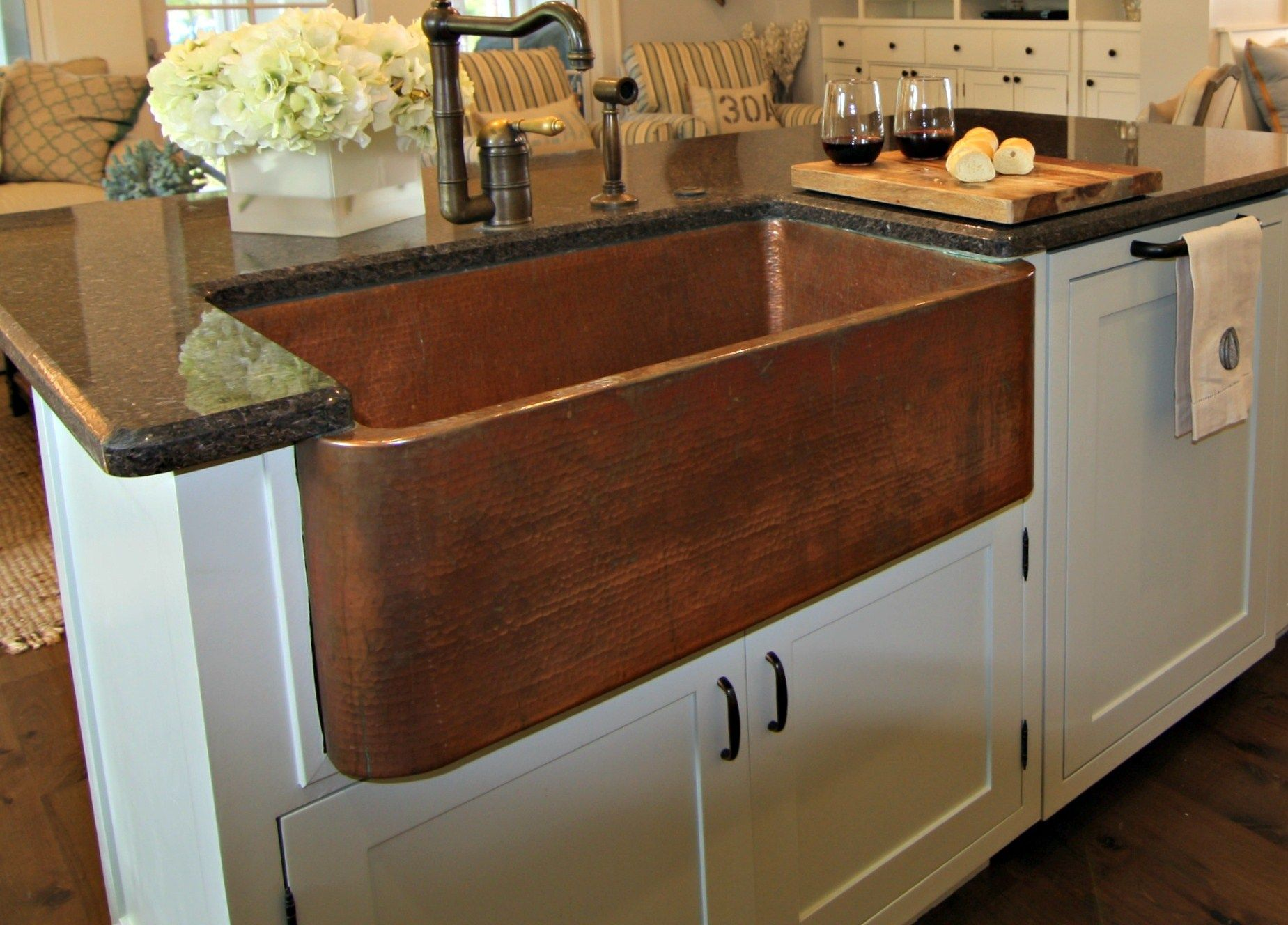 Kitchen Sinks For Granite Countertops Copper Kitchen Countertops Kitchen Simple Copper Kitchen Stone