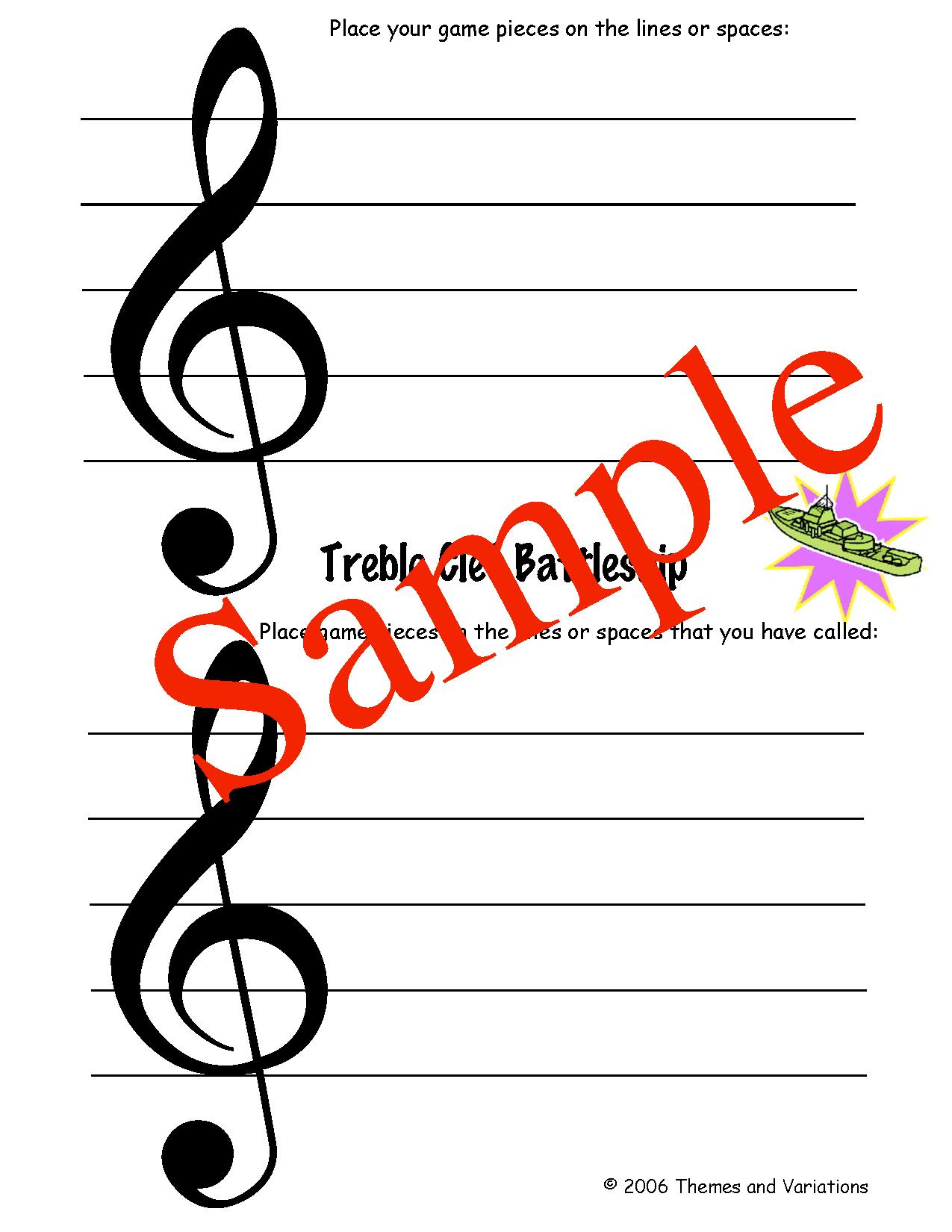 Note Name Battleship Music Classroom Pinterest