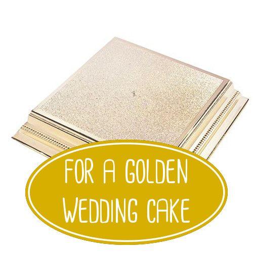Goldener Tortenstander Fur Die Festlichen Tage Wie Hochzeit Goldene
