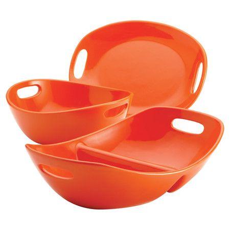 Rachael Ray 3 Piece Serveware Set in Orange