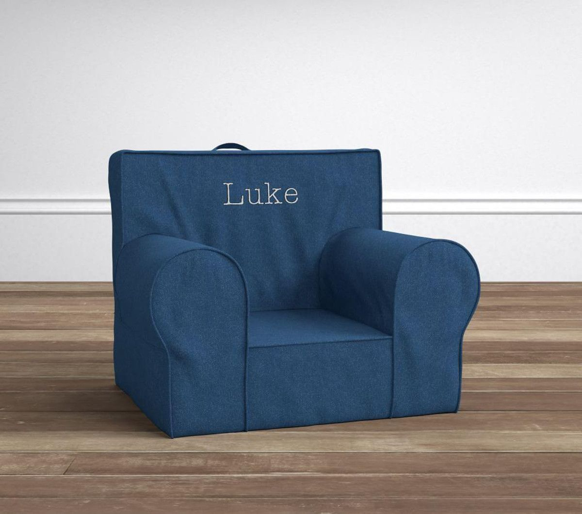 Denim Anywhere Chair Slipcovers for chairs, Kids lounge