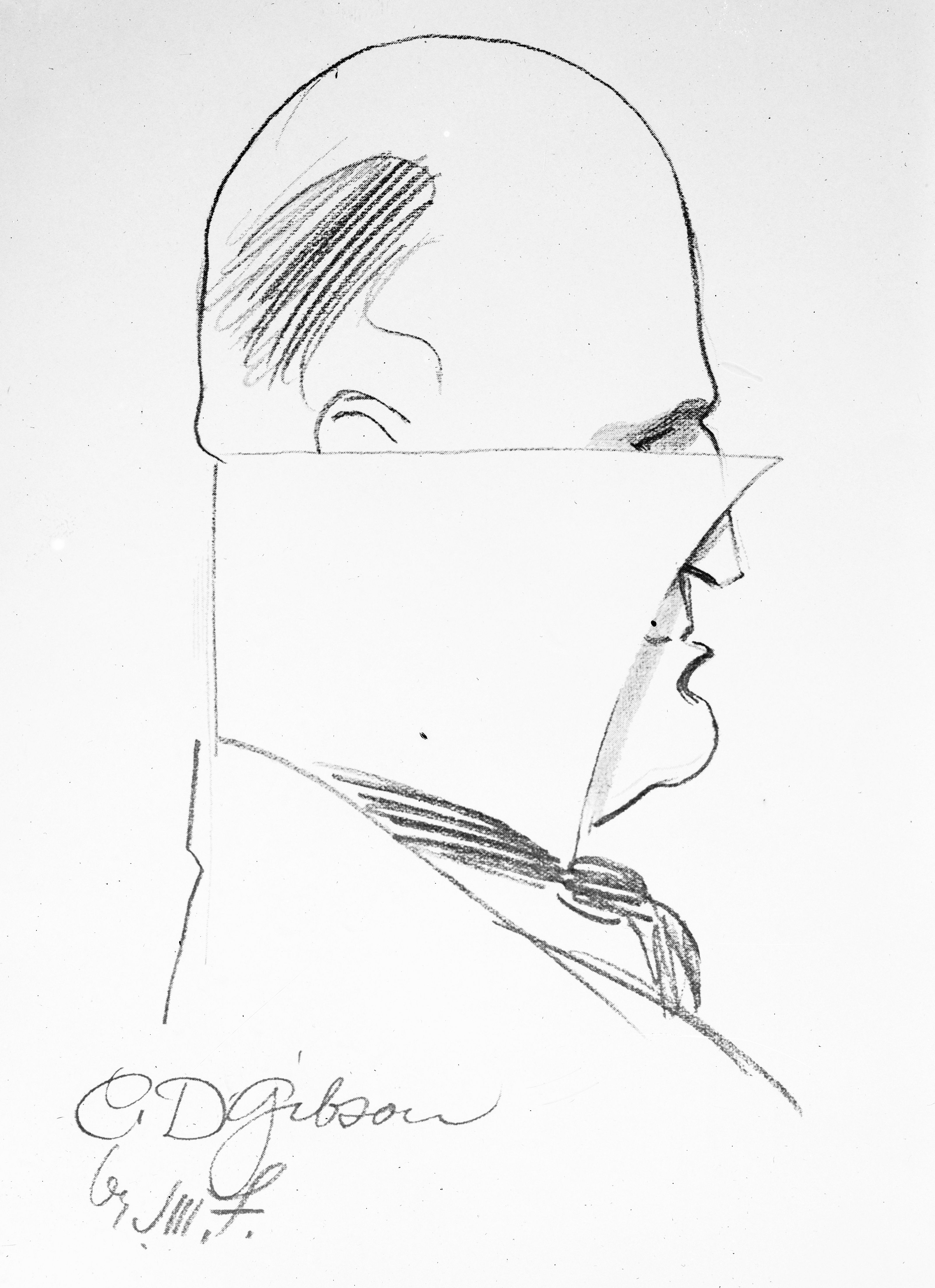 Charles Dana Gibson by James Montgomery Flagg