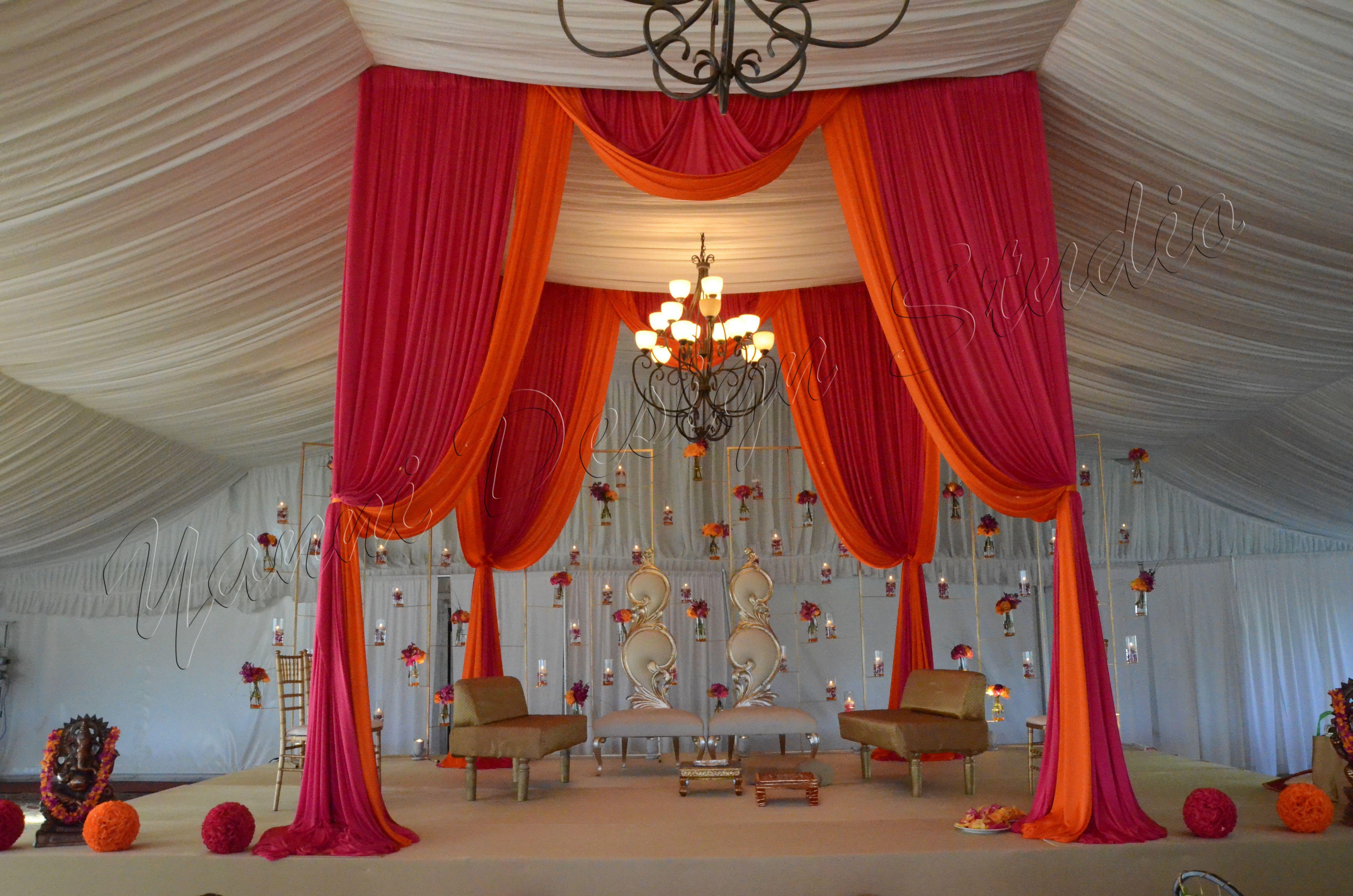 New wedding stage decoration  Indian wedding ceremony mandap Mandap with furniture  wedding