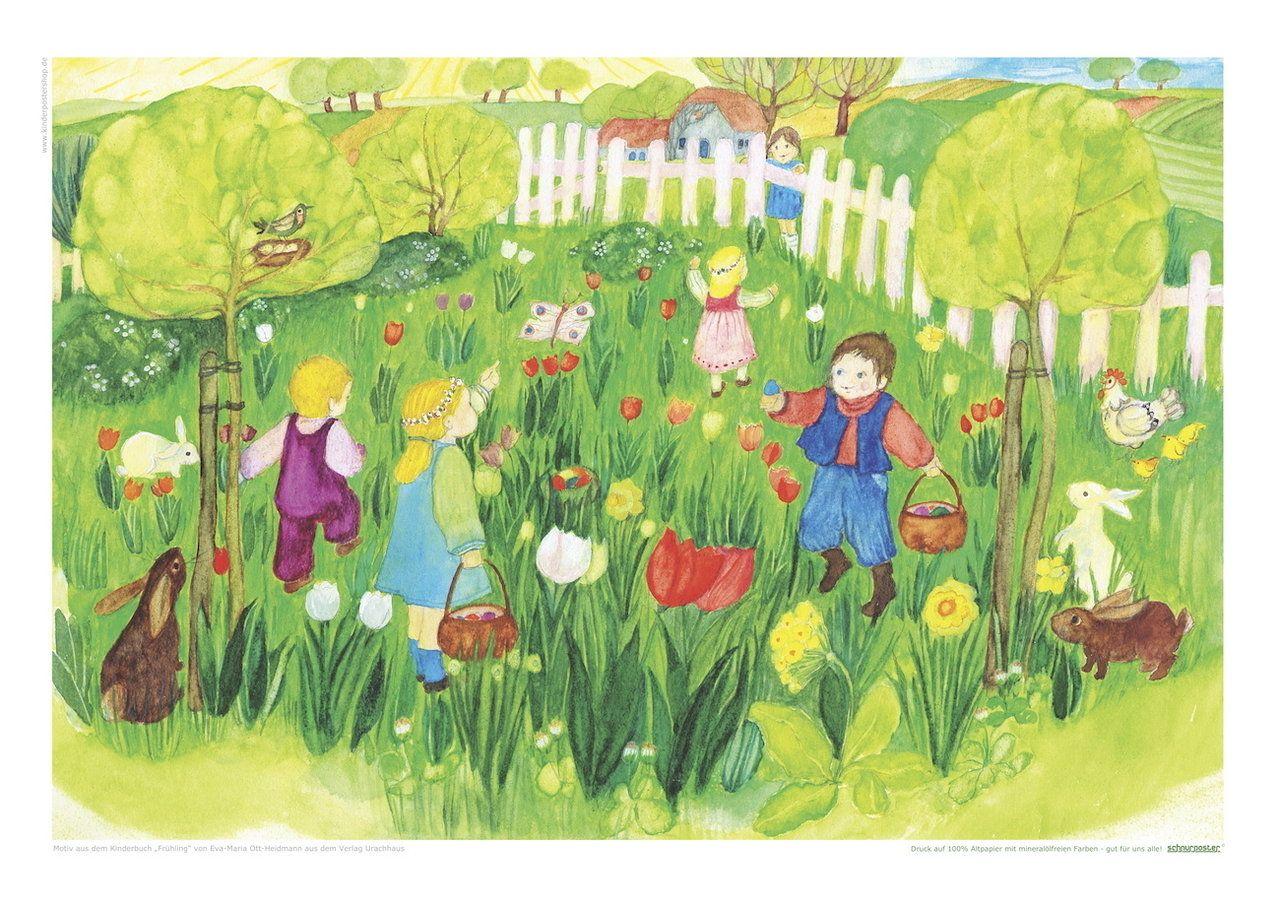 Gemalte Kinderbilder poster oder postkarte illustration ott heidmann