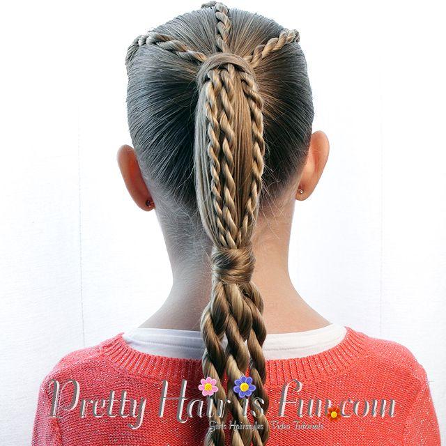 How To: Twist Braid Tiered Ponytail: Pretty Hair is Fun