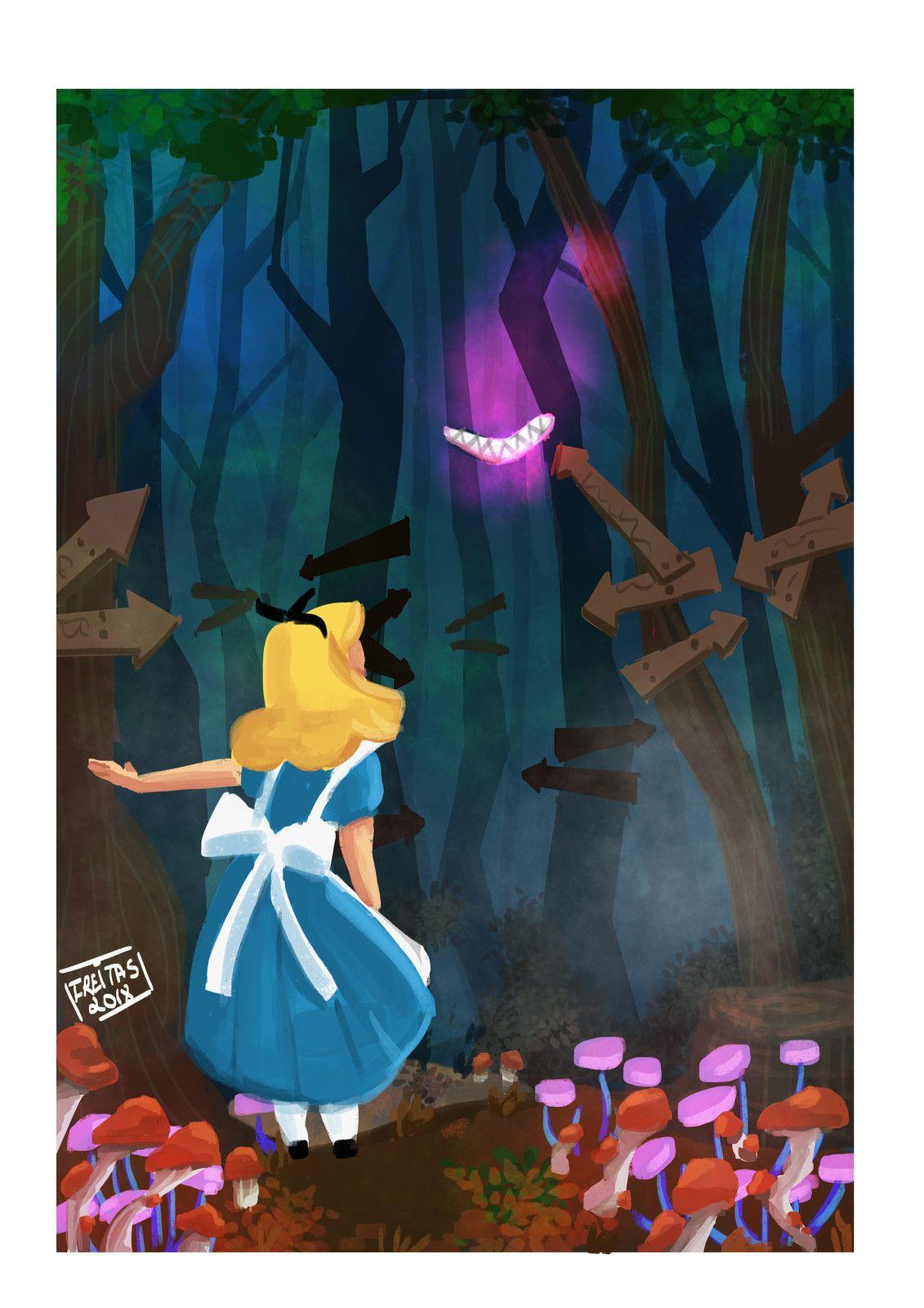 Alice In The Wonderland Thamiris Freitas On Artstation At Https Www Artstation Com Artwor Alice In Wonderland Artwork Alice In Wonderland Psychedelic Poster
