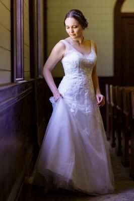 Tulle A Line Wedding Dress with Floral Lace Style WG3712   Pinterest