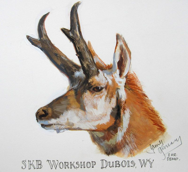 James Gurney, Pronghorn antelope, painted in 1 hour from