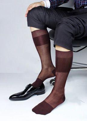 ff7fb92f51aa High quality Men's Summer Socks Elastic silk wine Socks Man stockings thin  Silk socks Male sexy Socks Breathable men stocking. Yesterday's price: US  $5.77 ...