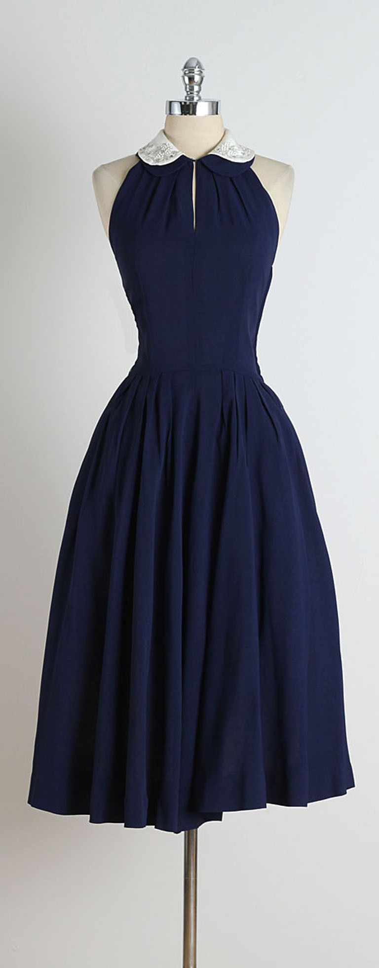 S blue jeweled collar halter dress pinterest s clothing