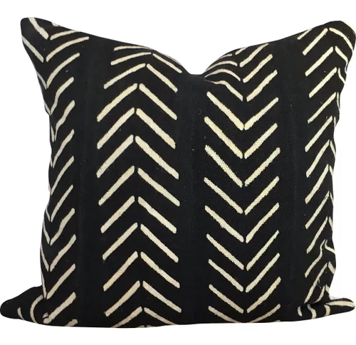 Newfolden Arrow Chevron Print Cotton Throw Pillow Cover